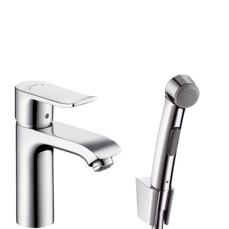 Смеситель для раковины с гигиеническим душем Hansgrohe Metris 31285000 31088000han смеситель hansgrohe metris 31088000 для раковины