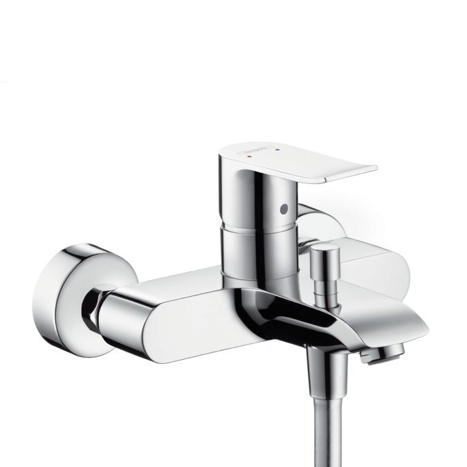 Смеситель для ванной однорычажный Hansgrohe Metris 31480000 смеситель скрытого монтажа hansgrohe metris 31086000