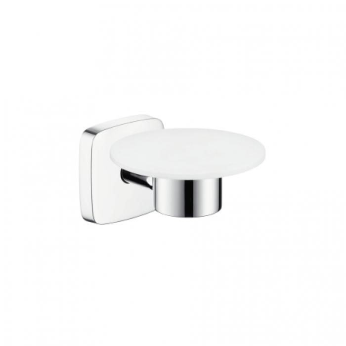 Мыльница для ванной Hansgrohe Puravida 41502000, хром настенный стакан hansgrohe puravida 41504000 латунь керамика