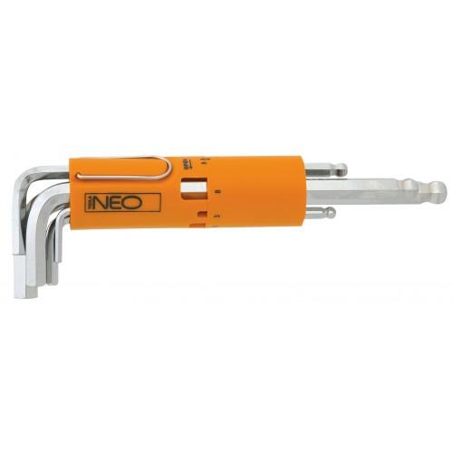 Набор шестигранных ключей Г-образных с шаром, 8 шт. Neo 09-513 набор г образных ключей hazet 2105lg 9h