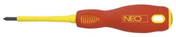 Отвертка крестовая Neo 04-073  диэлектрическая крестовая отвертка shtok 1000в ph3х150 мм 09308