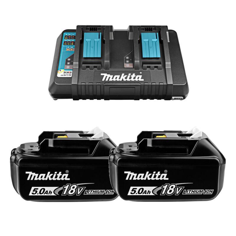 Аккумулятор и ЗУ Makita 191l75-3 (ЗУ dc18rd + АКБ bl1850b 2шт.)