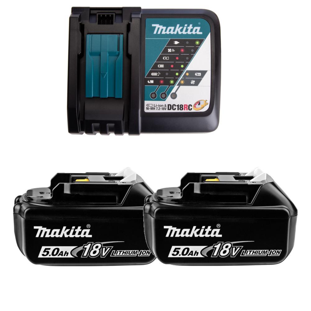 Аккумулятор и ЗУ Makita 191l74-5 (ЗУ dc18rc + АКБ bl1850b 2шт.)