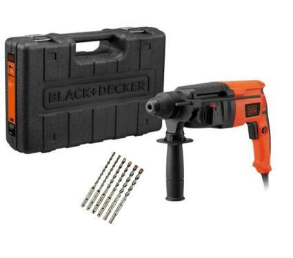 Набор BLACK & DECKER Перфоратор BDHR26KR +Набор буров SDS Plus, 5шт (Industrial DT9396-QZ)