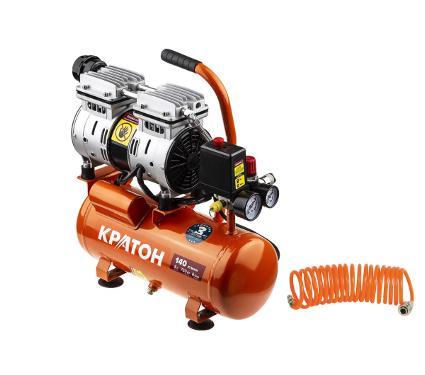 Набор КРАТОН Компрессор AC-140-8-OFS +Шланг спиральный для пневмоинструмента 30104015