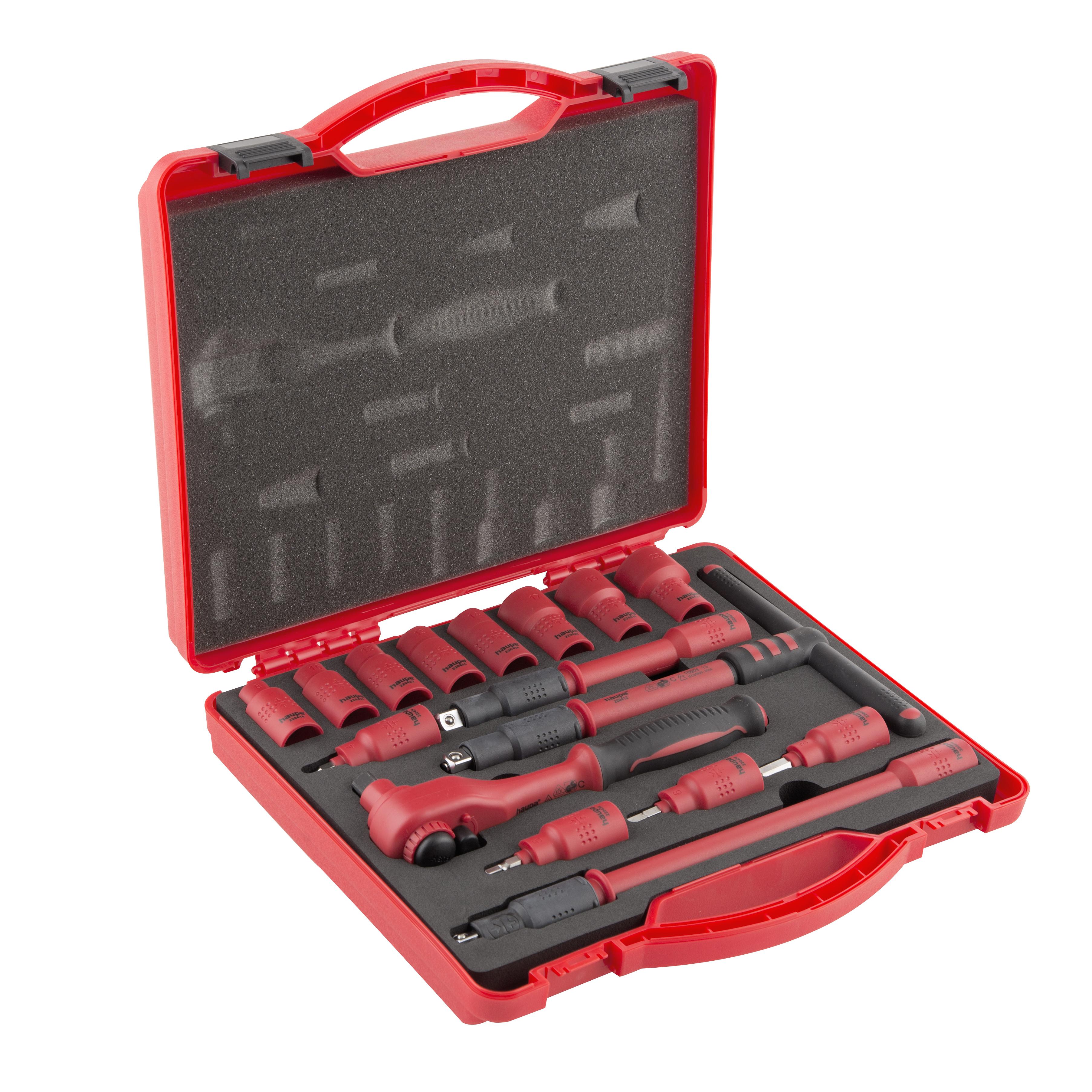 Профессиональный набор инструментов, 16 предметов Haupa 220402 фонарь haupa 130314