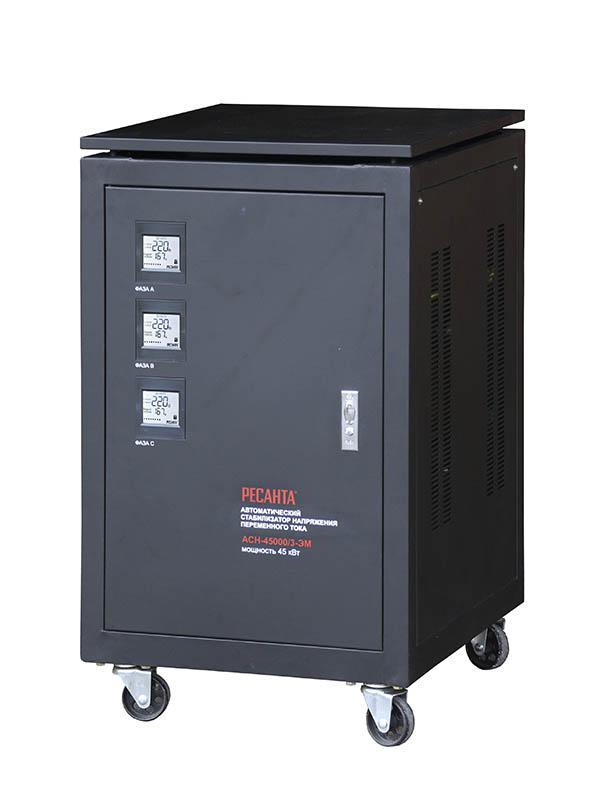 Стабилизатор напряжения РЕСАНТА АСН-45000/3-ЭМ стабилизатор ресанта трехфазный асн 9000 3