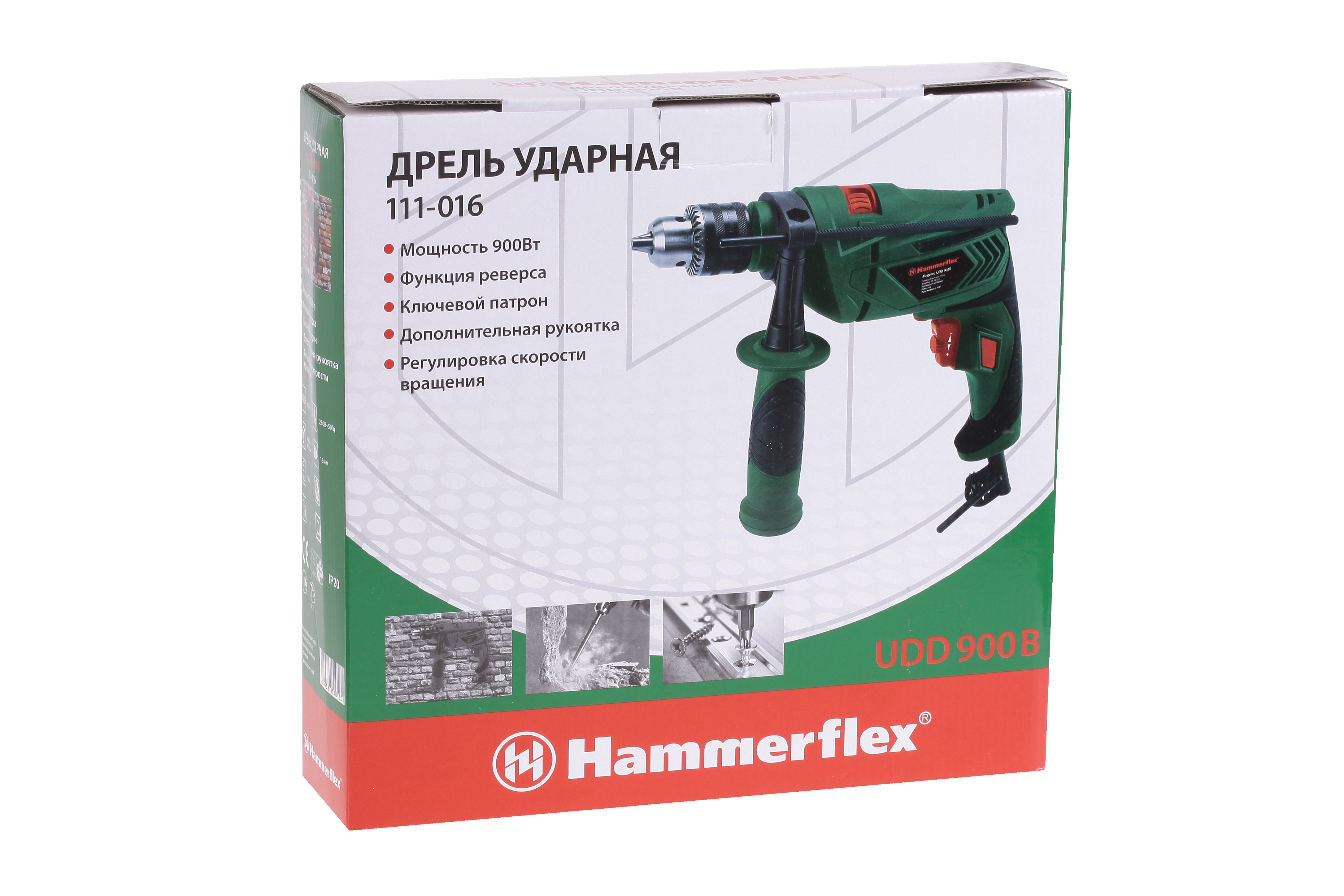 Дрель ударная Hammer Udd900b