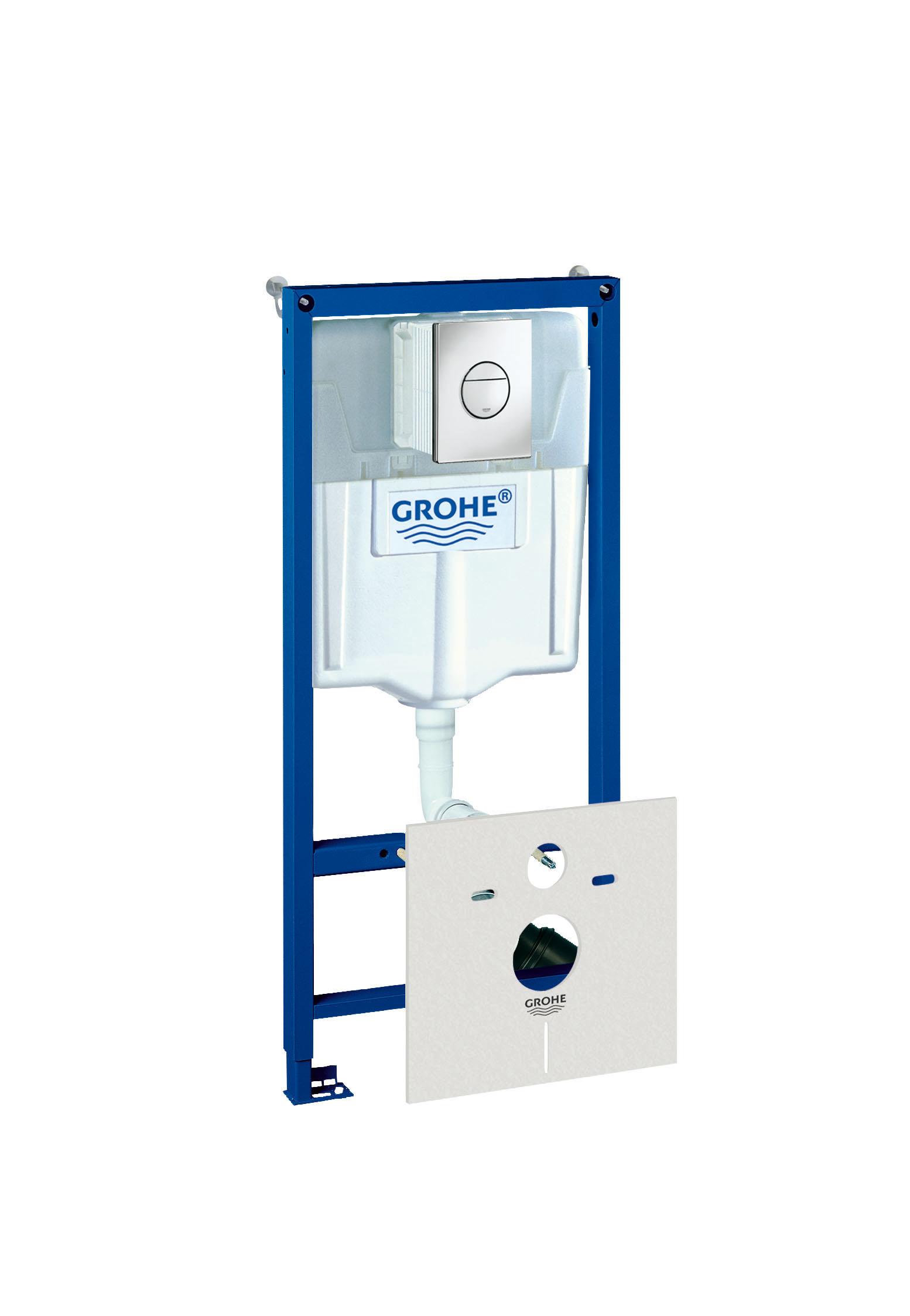 Инсталляция для унитаза Grohe Rapid sl 4 в 1 38813001 инсталляция grohe rapid sl 38840000 для подвесного унитаза
