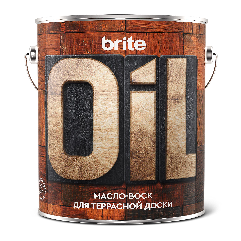 Масло-воск Brite для террасной доски, 2,5л (211152)