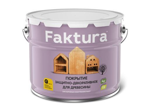 Покрытие защитно-декоративное FAKTURA Бесцветное 9л (208456)