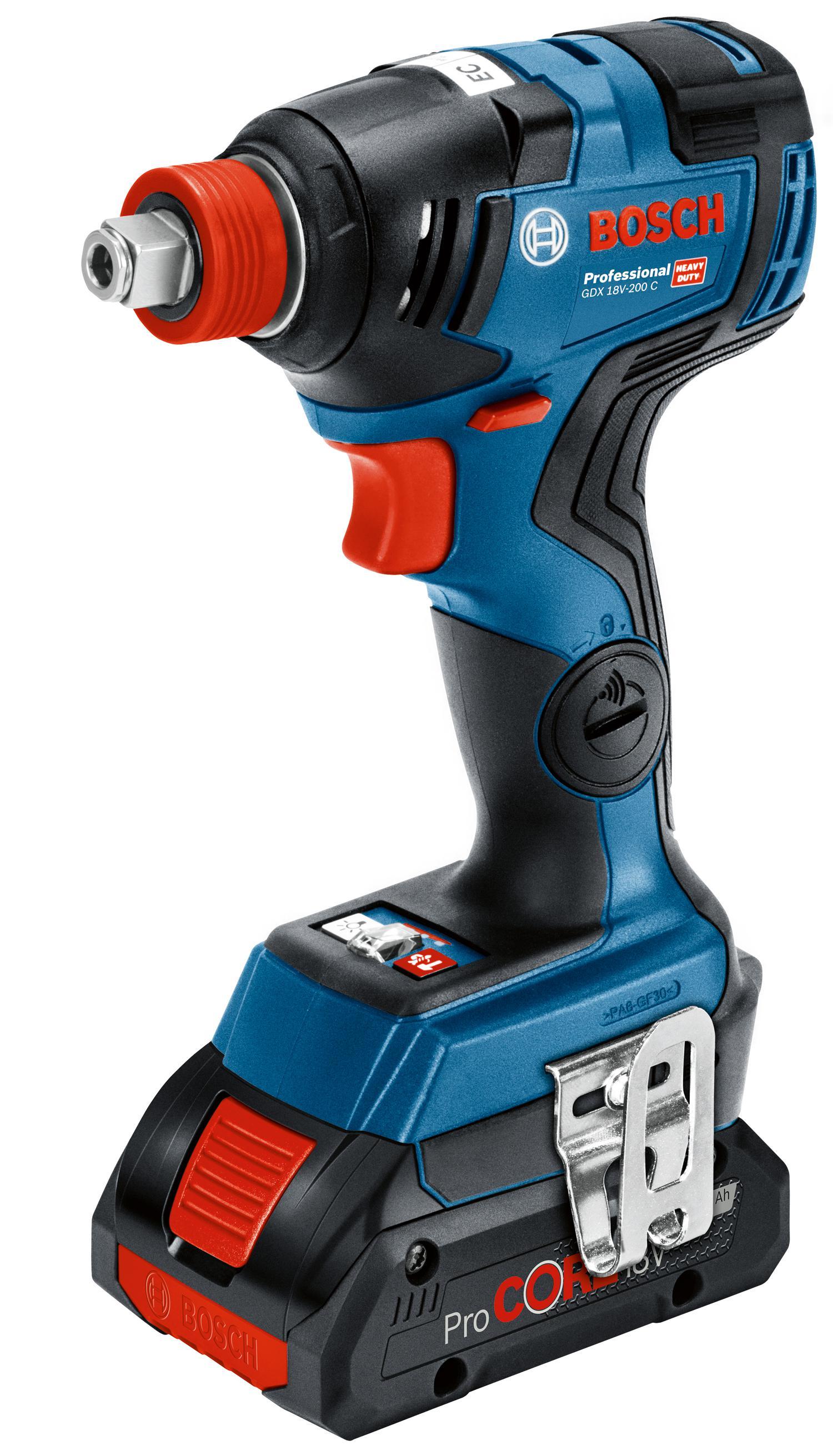 Гайковерт аккумуляторный Bosch Gdx 18v-200 c (0615990m46)