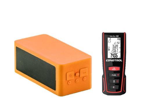 Набор CONDTROL Дальномер Vector 80 +Портативная Bluetooth-колонка BOOMSONIX оранжевая