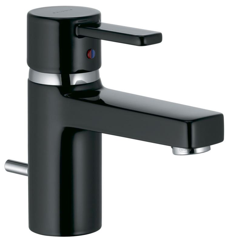 Смеситель чёрный Kludi Zenta 382508675 смеситель для кухни однорычажный с выдвижной лейкой kludi l ine 428210577