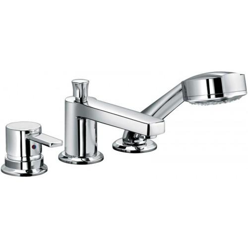 Смеситель для ванной однорычажный с выдвижной лейкой Kludi Zenta 384460575 428210577 смеситель для кухни хром kludi