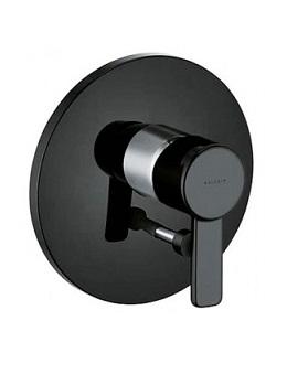 Смеситель скрытого монтажа чёрный Kludi Zenta 386508675 смеситель для ванны kludi черный 386508675