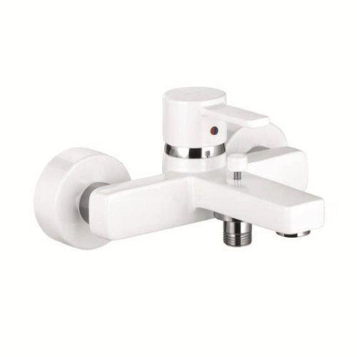 Смеситель белый Kludi Zenta 386709175 смеситель для ванны kludi zenta 384470575