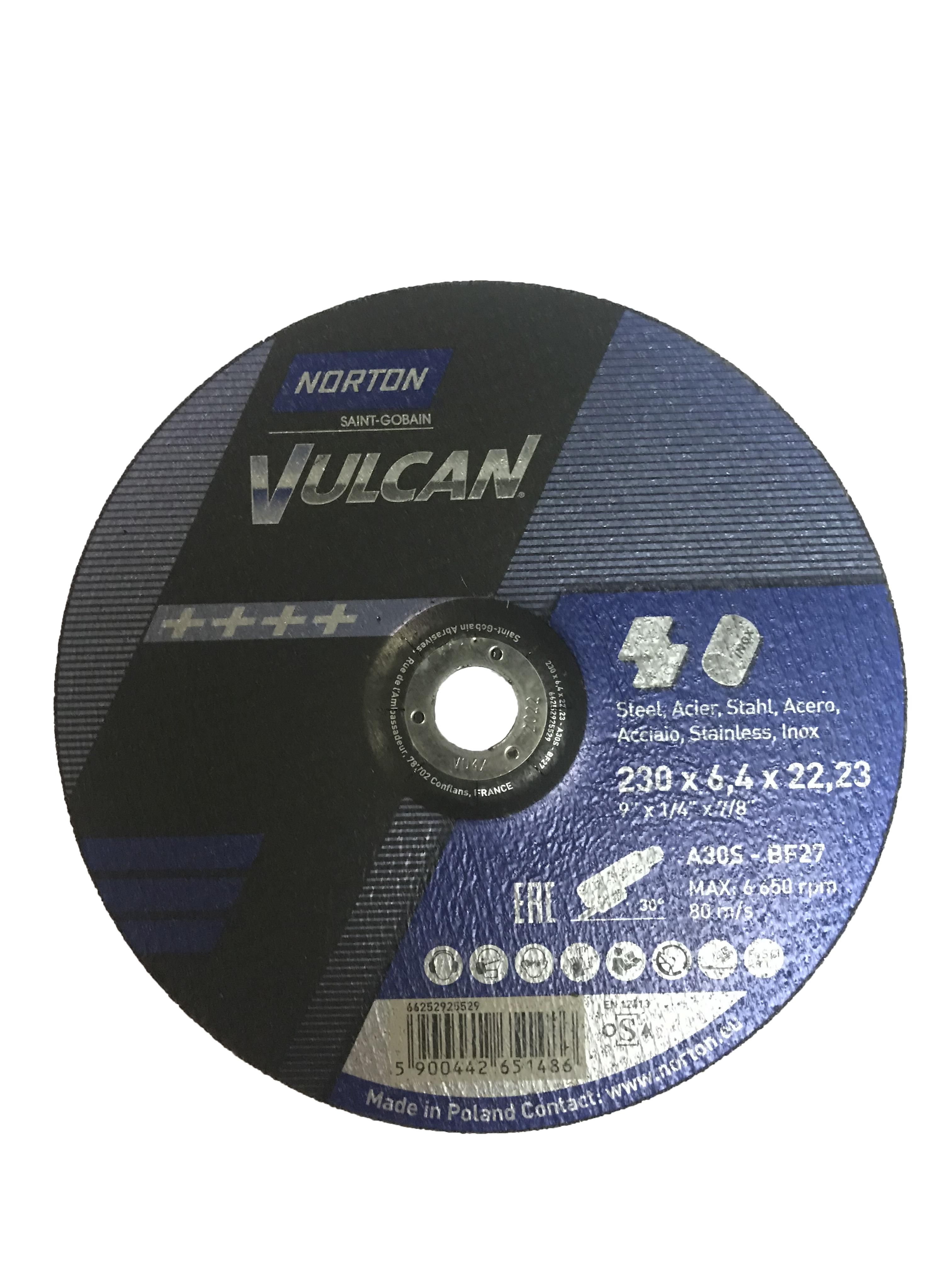 Круг зачистной Norton 230х6.4х22мм 14А