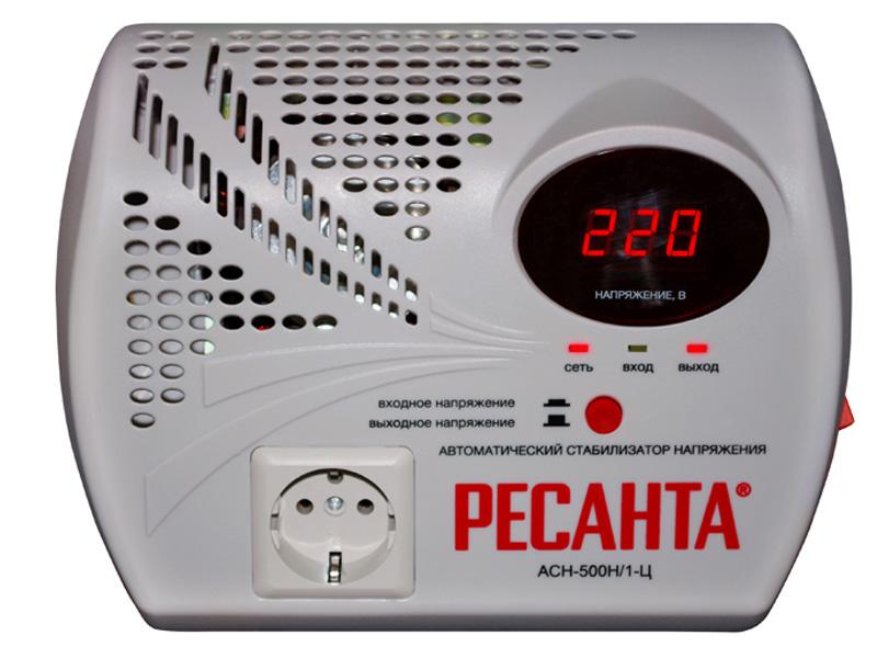 Стабилизатор напряжения РЕСАНТА АСН-500 Н/1-Ц ресанта асн 120001 ц релейный в москве