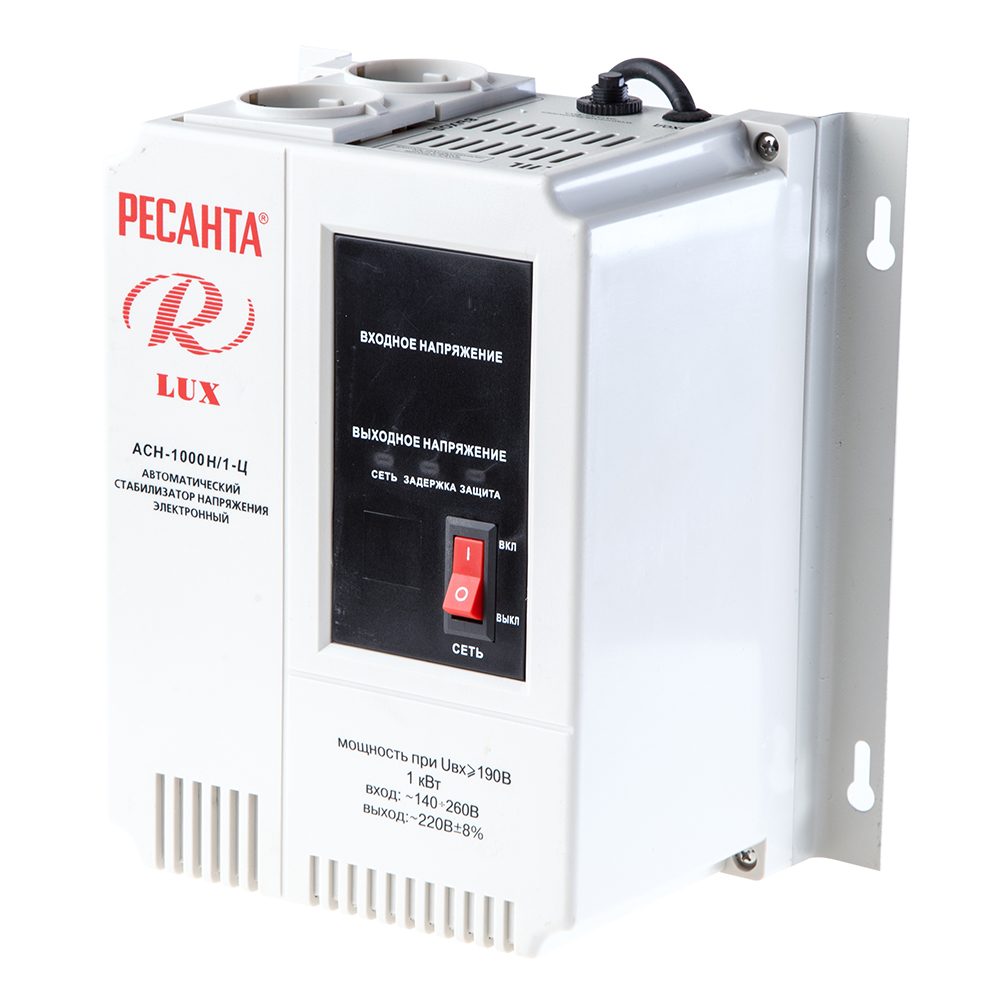 Стабилизатор напряжения РЕСАНТА АСН-1000 Н/1-Ц ресанта асн 120001 ц релейный в москве