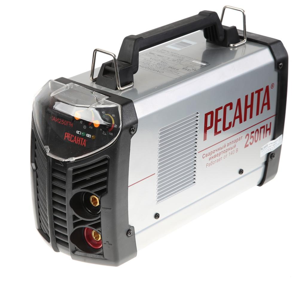 Сварочный инвертор РЕСАНТА Инвертор сварочный САИ 250 ПН набор ресанта сварочный аппарат инвертор сварочный саи 250 в кейсе маска мс 4 электроды для сварки мр 3 ф3 0 1кг