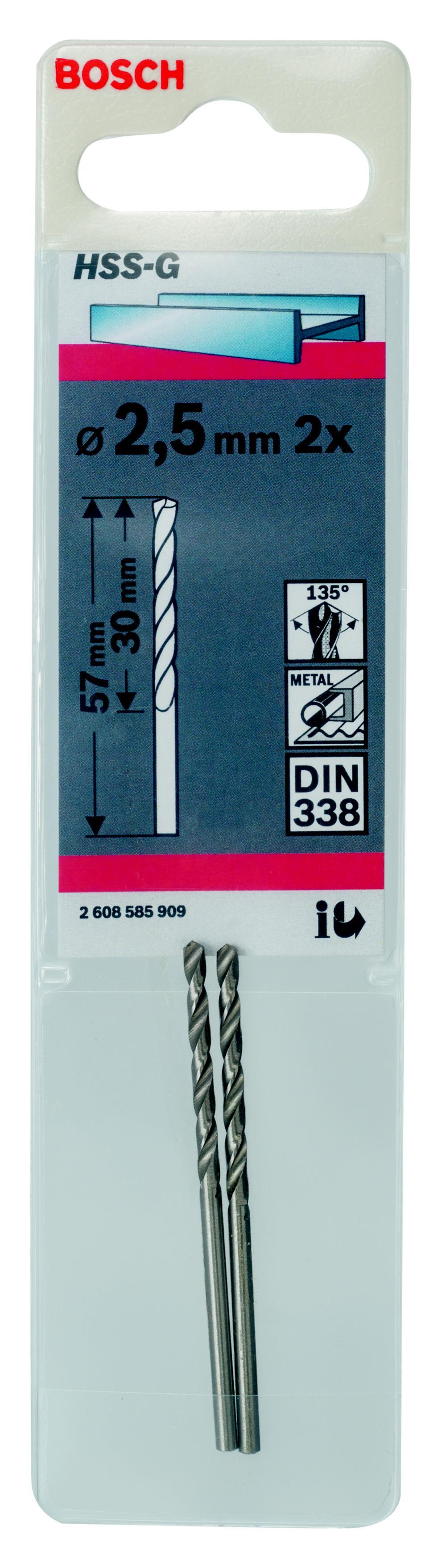 Сверло по металлу Bosch Hss-g standardline1.5 мм (2.608.585.909) пила дисковая bosch gks 55 g 601682000