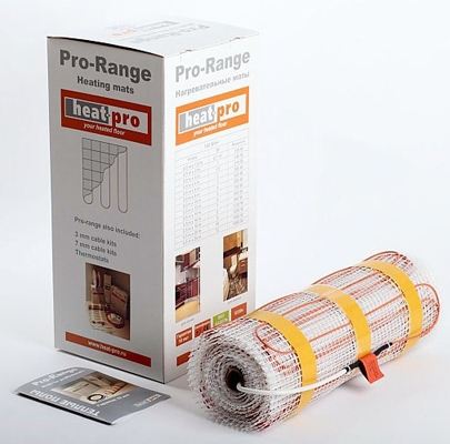 Теплый пол электрический под плитку Heat-pro 32140015 1.5м2 плитку под дерево купить подольск
