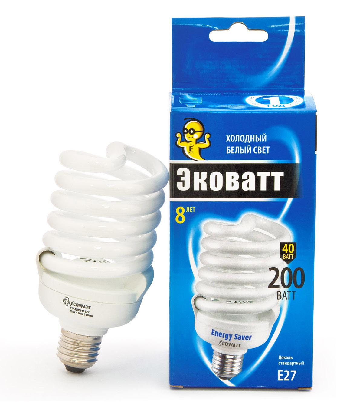 Лампа энергосберегающая Ecowatt Fsp 40w 840 e27