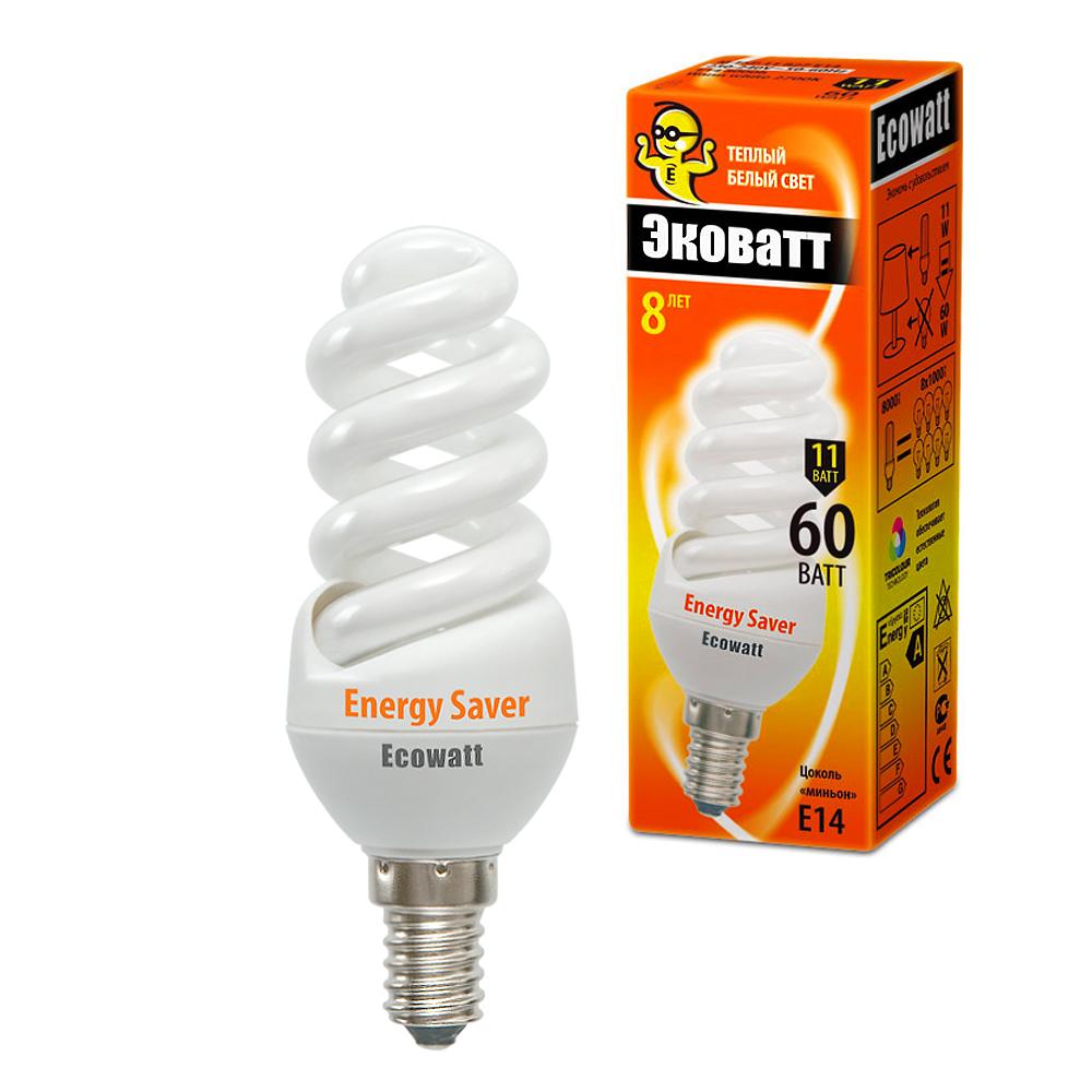 Лампа энергосберегающая Ecowatt M-fsp 11w 827 e14