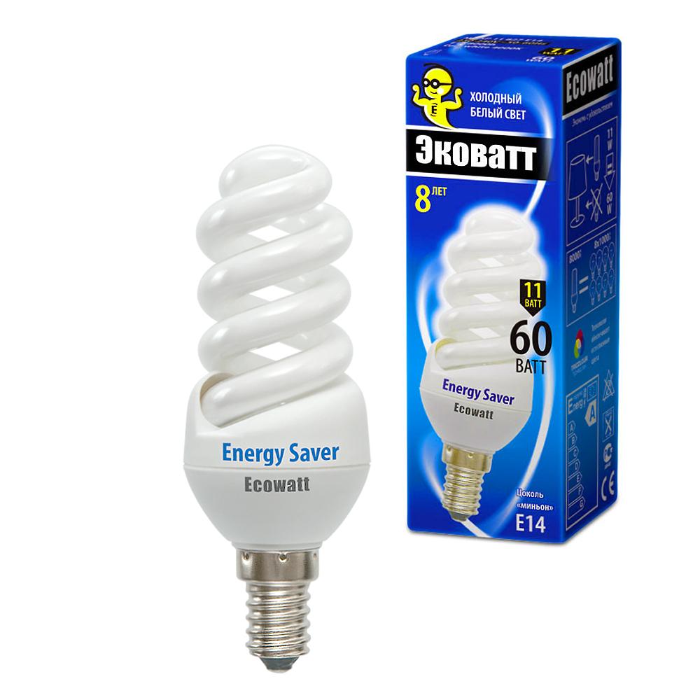 Лампа энергосберегающая Ecowatt M-fsp 11w840 e14 энергосберегающая лампа наносвет l251 e14 840 ecoled