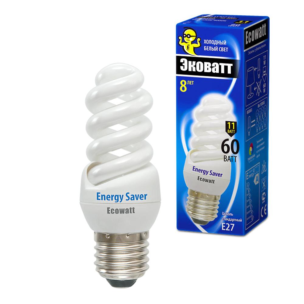 Лампа энергосберегающая Ecowatt M-fsp 11w840 e27 энергосберегающая лампа наносвет l251 e14 840 ecoled