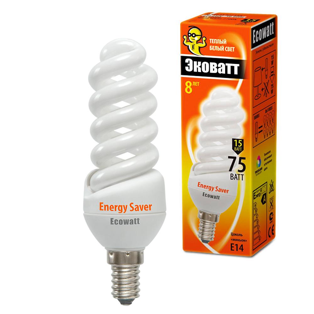 220 Вольт - Лампа энергосберегающая ECOWATT M-FSP 15W 827 E14 - цена, характеристики, фото, отзывы, инструкция.