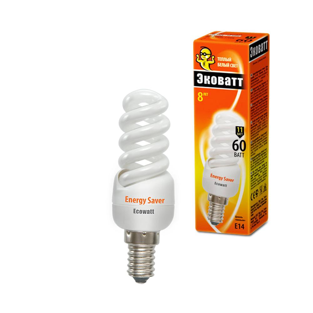 Лампа энергосберегающая Ecowatt Mini fsp 11w 827 e14 сигнализация starline e96 bt 2can 2lin eco