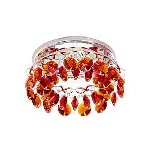 Светильник встраиваемый АКЦЕНТ Crystal 540 хром/янтарь  - Купить