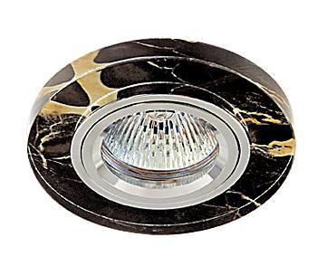 Светильник встраиваемый АКЦЕНТ Crystal 760 алюминий/черный