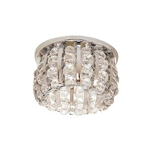 Светильник встраиваемый АКЦЕНТ Crystal 865 хром/прозрачный