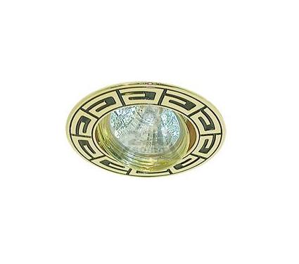 Светильник встраиваемый АКЦЕНТ Versace WL-650 золото/чёрный