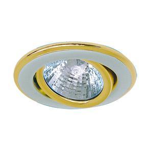 Светильник встраиваемый АКЦЕНТ 113aa1матовый никель/золото