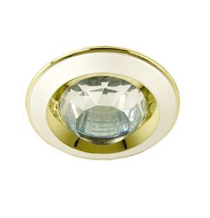 Светильник встраиваемый АКЦЕНТ 16001ba жемчужное золото/золото