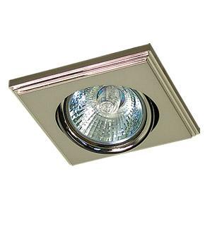 Светильник встраиваемый АКЦЕНТ 16175eq лесенка жемчужный никель/хром