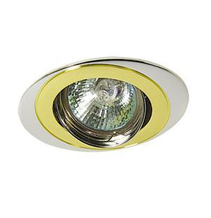 Светильник встраиваемый АКЦЕНТ Wl-110 хром/золото светильник встраиваемый акцент wl 182 хром