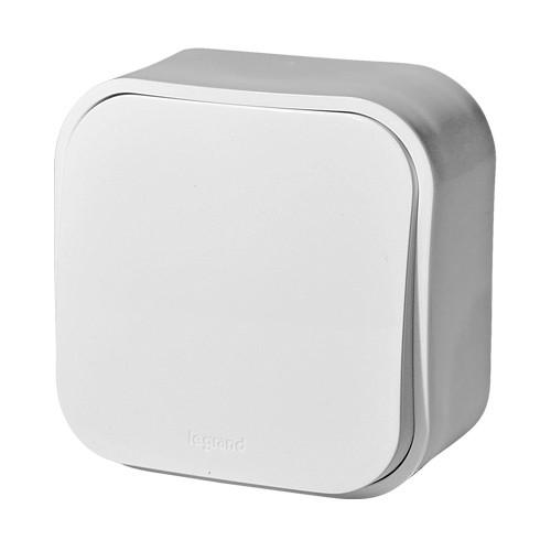 Выключатель Legrand 1-клавишный  ОП 10АХ quteo белый переключатель 1 клавишный наружный бежевый 10а quteo