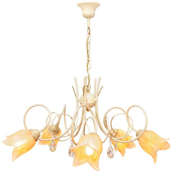 Люстра СЕВЕРНЫЙ СВЕТЛюстры<br>Назначение светильника: для гостиной,<br>Стиль светильника: флористика,<br>Тип: подвесная,<br>Материал светильника: металл, стекло,<br>Материал плафона: стекло,<br>Материал арматуры: металл,<br>Диаметр: 700,<br>Высота: 600,<br>Количество ламп: 5,<br>Тип лампы: накаливания,<br>Мощность: 60,<br>Патрон: Е14,<br>Цвет арматуры: бежевый<br>