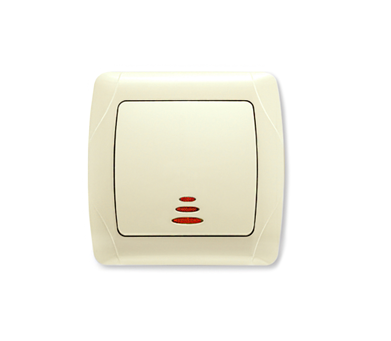 Выключатель Viko Carmen 562019 выключатель двухклавишный наружный бежевый 10а quteo