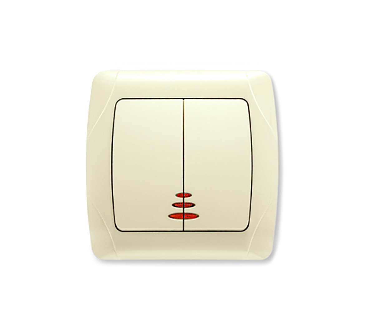 Выключатель Viko Carmen 562050 выключатель двухклавишный наружный бежевый 10а quteo