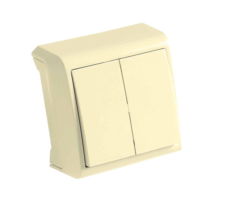 Выключатель Viko Vera 9068[9] 1202 выключатель двухклавишный наружный бежевый 10а quteo