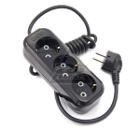 Удлинитель LUX У3-Е-03 черный  3-местный с заземлением, 220В 16А, 3м