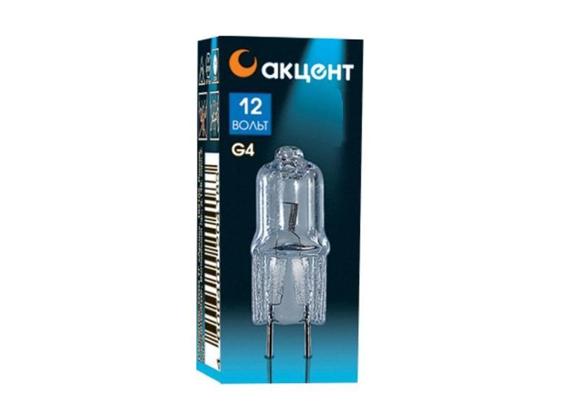 Лампа галогенная АКЦЕНТ Jc 12В  35w g4 капсульная прозрачная лампа галогенная акцент jc 12в 10w g4 капсульная прозрачная