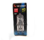 Лампа галогенная АКЦЕНТ JCD 230В  40W G9 CL капсульная прозрачная
