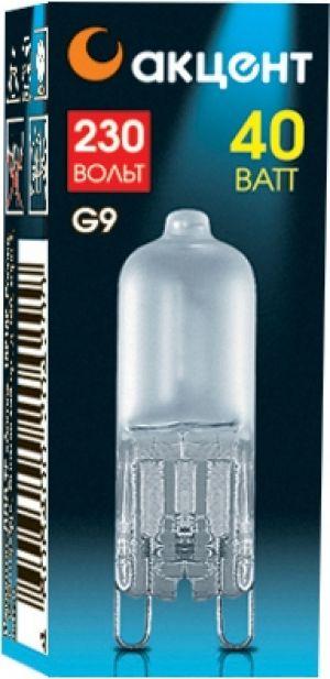 Лампа галогенная АКЦЕНТ Jcd 230В  40w g9 fr капсульная матовая лампа галогенная акцент jc 12в 20w g4 капсульная прозрачная